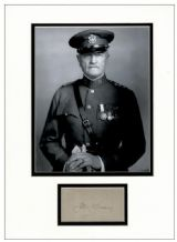 General John J Pershing Autograph Signed Display